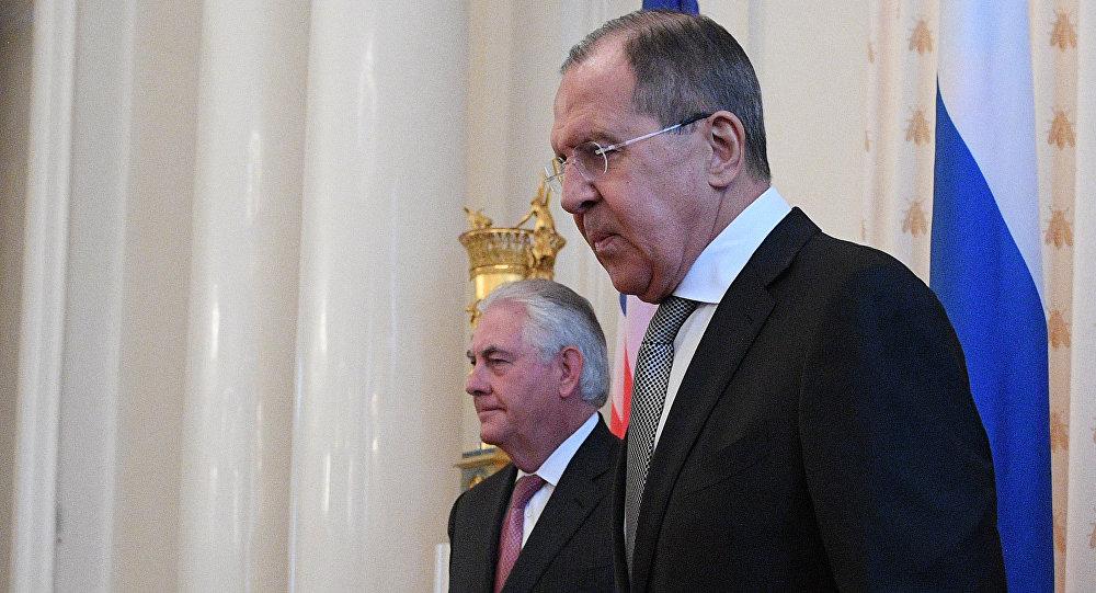 Министр иностранных дел РФ Сергей Лавров и Государственный секретарь США Рекс Тиллерсон, фото из архива