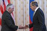 Государственный секретарь США Рекс Тиллерсон и министр иностранных дел РФ Сергей Лавров во время переговоров в Москве, 12 апреля 2017 года