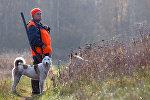 Охотник во время охоты, фото из архива