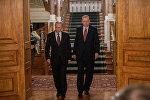 Президенты России и Турции Владимир Путин и Реджеп Тайип Эрдоган перед пресс-конференцией в Стамбуле, 10 октября 2016 года