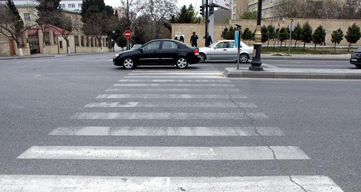 Пешеходный переход в Баку, фото из архива