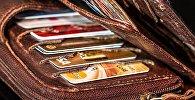 Банковские карты в бумажнике, фото из архива