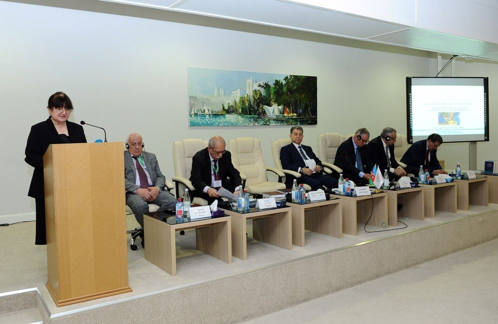 Заведующая отделом по вопросам гуманитарной политики Администрации президента АР Фатма Абдуллазаде зачитала обращение президента Ильхама Алиева к участникам форума