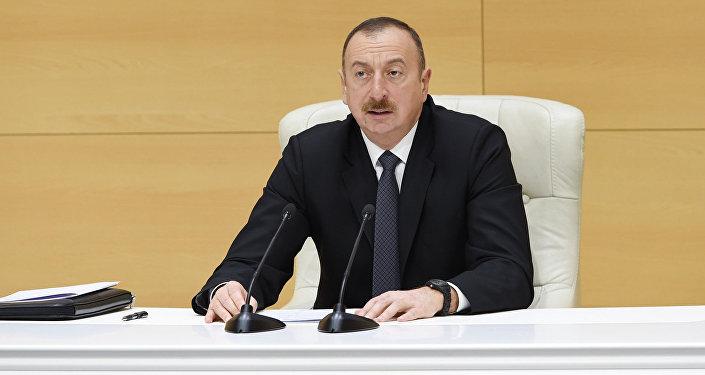 Выступление Ильхама Алиева на республиканском совещании ненефтяных экспортеров, Евлах, 17 апреля 2017 года