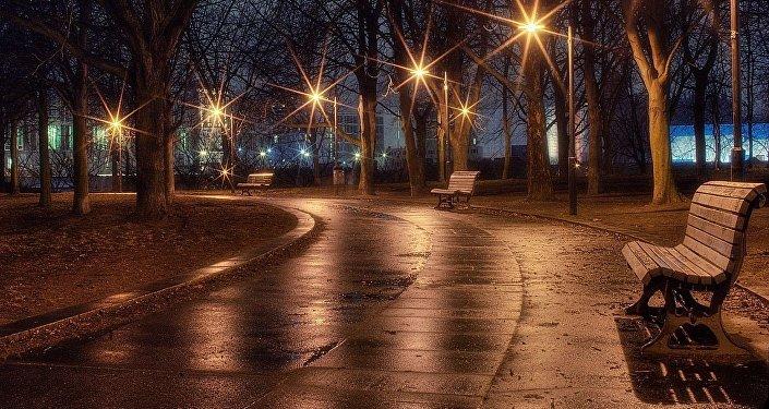 Вечерний парк, фото из архива