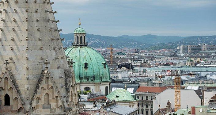 Вид на Вену с собора святого Стефана, фото из архива