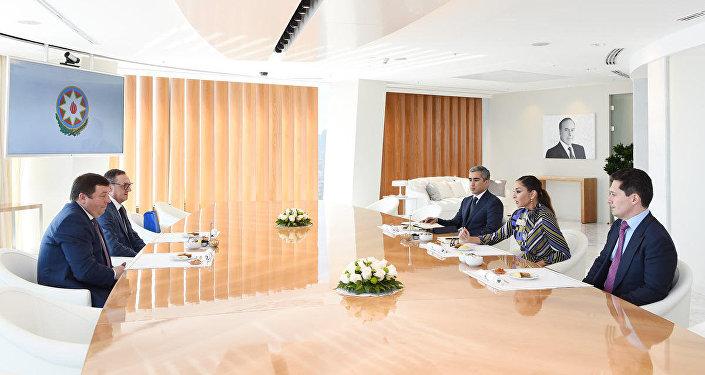 Первый вице-президент Мехрибан Алиева встретилась с ректором Первого Московского государственного медуниверситета им. И.М. Сеченова