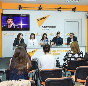 Пресс-конференция участницы проекта Ты супер! Парваны Алджановой