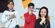 Пресс-конеференция представителей проекта Футбол для дружбы в мультимедийном пресс-центре Sputnik Азербайджан
