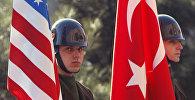 ABŞ və Türkiyə bayraqları