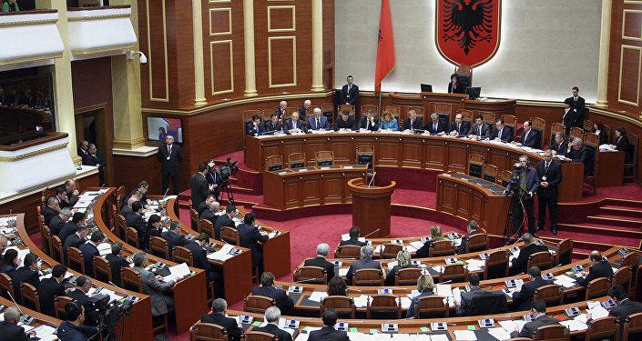 Albaniya parlament məclisi,arxiv şəkli