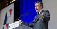 Предвыборное выступление Франсуа Фийона в Париже
