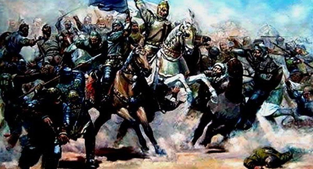 Orta əsrlərdə döyüş səhnəsi