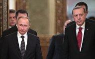 Президент РФ Владимир Путин и президент Турции Реджеп Тайип Эрдоган, 10 марта 2017 годп