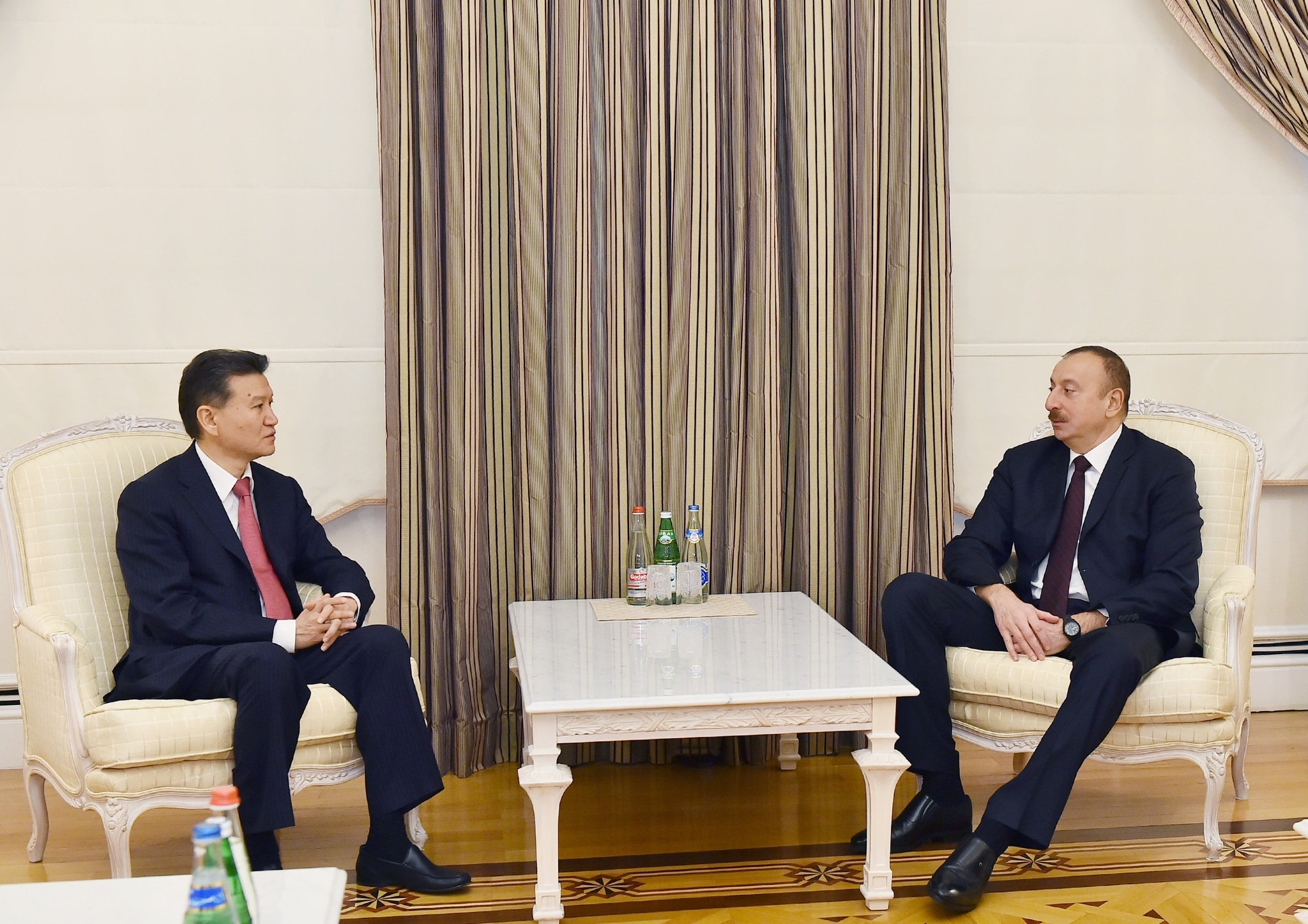 Президент Азербайджана Ильхам Алиев принял президента Международной шахматной федерации