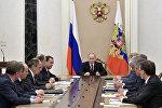 Президент РФ Владимир Путин проводит совещание с постоянными членами Совета безопасности РФ, фото из архива