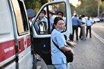 Сотрудница медицинской помощи в Бишкеке, фото из архива