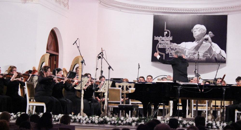 ВАзербайджанской столице состоялось праздничное открытиеIX интернационального фестиваля Мстислава Ростроповича
