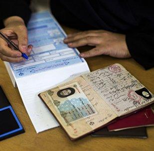 Гражданка Ирана в избирательном участке, фото из архива