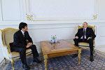 Президент Ильхам Алиев принял верительные грамоты новоназначенного посла Японии в Азербайджане