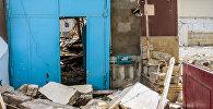 Разрушения на месте снесенного дома Шовкет ханум