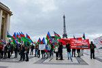 Акция протеста в Париже против визита Саргсяна во Францию, фото из архива