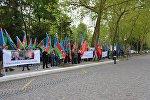 Акция протеста проживающих в Европе азербайджанцев перед зданием Совета Европы