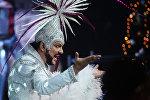 Певец Филипп Киркоров на съемках новогодней программы на Первом канале России. 8 декабря 2016 года