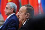 Президент Азербайджана Ильхам Алиев во время заседания Высшего Евразийского экономического совета на уровне глав государств в Минске, фото из архива