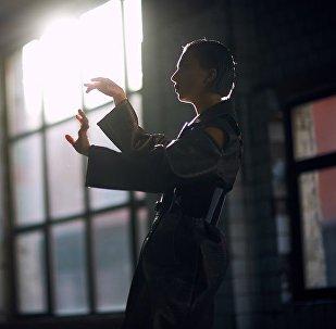 Репетиция представительницы Азербайджана Дианы Гаджиевой на международном песенном конкурсе Евровидение-2017