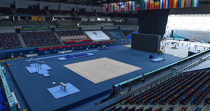 Milli Gimnastika Arenasında media nümayəndələri üçün tur təşkil olunub