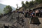 Место взрыва на угольной шахте в провинции Голестан, на севере Ирана, 3 мая 2017 года