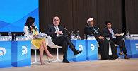 Министр иностранных дел АР Эльмар Мамедъяров на панельной сессии в рамках IV Всемирного форума по межкультурному диалогу