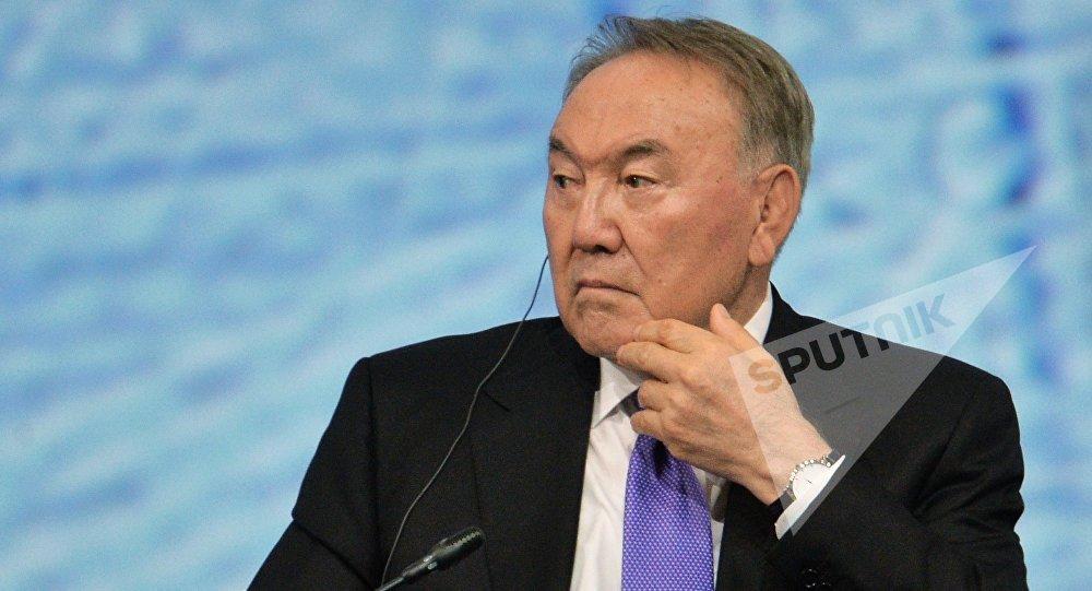 Qazaxıstan prezidenti Nursultan Nazarbayev, arxiv şəkli