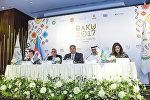 Пресс-конференция накануне IV Игр исламской солидарности, Баку, 12 мая 2017 года