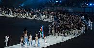 Кадры зрелищного шоу с открытия IV Игр исламской солидарности