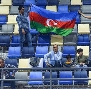 Азербайджанские болельщики на IV Играх исламской солидарности, архивное фото