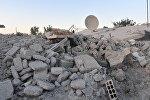 Здания, разрушенные в результате боевых действий в пригороде Дамаска Восточная Гута