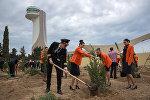 В Международном аэропорту Гейдар Алиев прошла акция по посадке деревьев