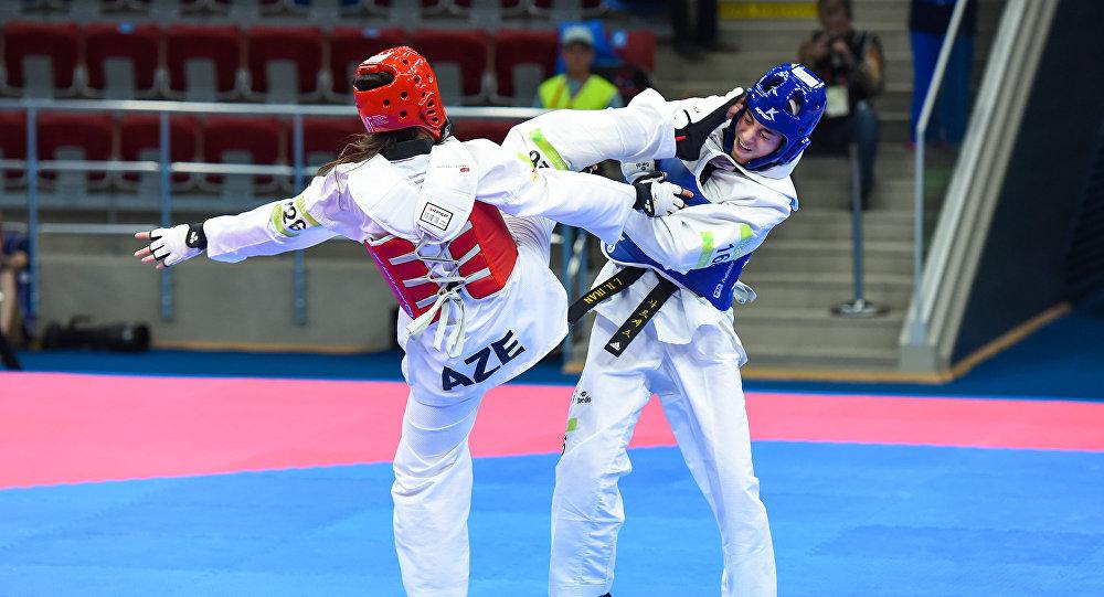 Соревнования по тхеквондо среди женщин в весовых категориях до 46, до 53 и до 57 кг, среди мужчин - в весовых категориях до 54 и до 58 кг IV Игр Исламской солидарности