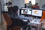 В студии новостей информационного агентства Sputnik Азербайджан