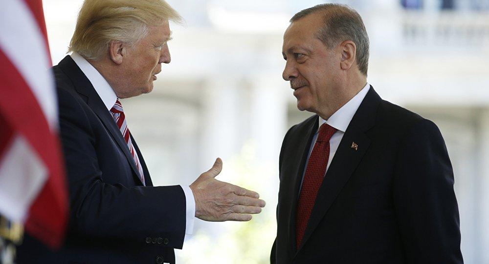 Türkiyə prezidenti Rəcəb Tayyib Ərdoğanın Amerika Birləşmiş Ştatlarının prezidenti Donald Trampla görüşü