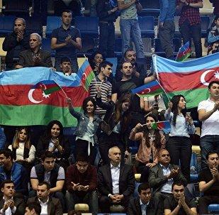 Болельщики на трибунах IV Игр исламской солидарности Баку-2017, архивное фото