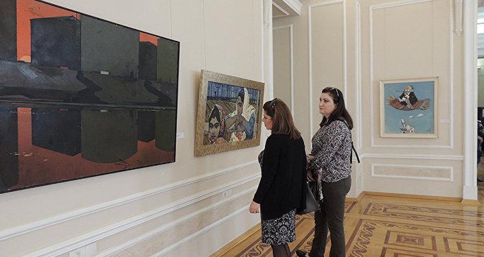 Картины Октая Садыгзаде Лунная ночь и Девочки у родника