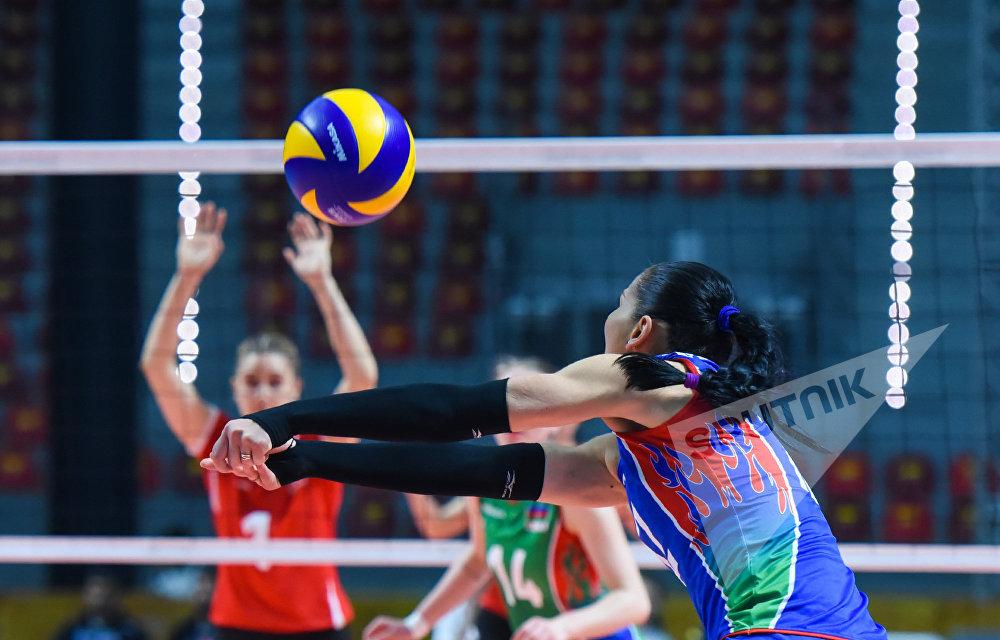 Финальный матч по волейболу между женскими сборными Азербайджана и Туриции 4 Игр Исламской солидарности