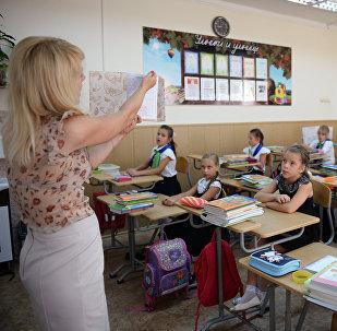 Ученики 3-го класса на уроке