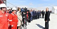Президент Азербайджана на церемонии открытия полупогружной буровой установки Гейдар Алиев