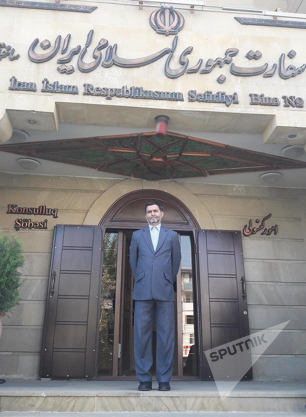 Пресс-секретарь посольства Ирана в Азербайджане Мухаммед Рза Наджафи.