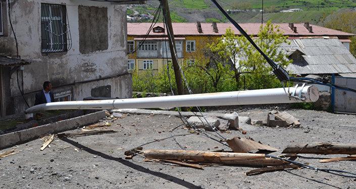 Güclü külək Daşkəsən rayonunda ciddi fəsadlar törədib