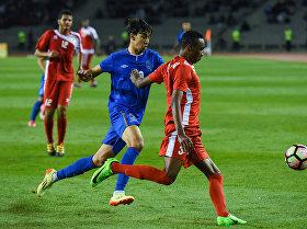 Финальный матч по футболу между сборными Азербайджана и Омана IV Игр Исламской солидарности